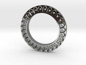 Gothic Band Positive in Fine Detail Polished Silver