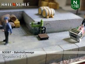 Bahnhofswaage (N 1:160) in Smooth Fine Detail Plastic