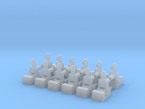 1/600 Phalanx CIWS (x12) in Smooth Fine Detail Plastic