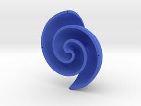 Fermat Vortex Shell CCW in Blue Processed Versatile Plastic