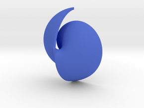 Fermat Vortex Shell CW in Blue Processed Versatile Plastic