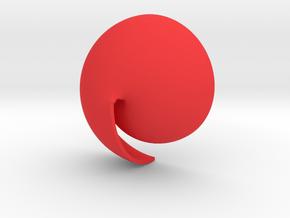 Archimedean Vortex Shell CW in Red Processed Versatile Plastic
