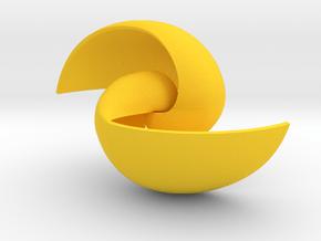 Spacetime Vortex in Yellow Processed Versatile Plastic