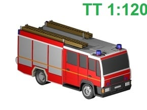 Feuerwehr-LHF (TT 1:120) in Smooth Fine Detail Plastic