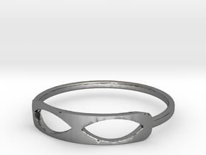 Infinity Ring in Polished Silver