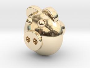 PIGI door knob in 14K Yellow Gold