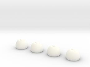 Keshe Magrav Stacker Feet  in White Processed Versatile Plastic