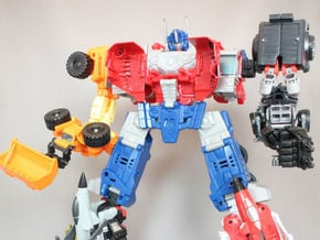 Combiner Wars joint(CW male joint and 5mm peg) in Black Natural Versatile Plastic