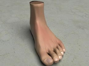 """Life Size Foot - 8.7"""" - Solid in White Natural Versatile Plastic"""