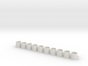 Flachfelge 10x8 in White Natural Versatile Plastic