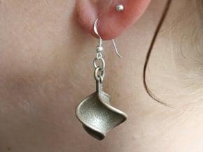 TTS earring 1 in Polished Bronzed Silver Steel