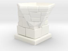 D12 Die Holder (Stone Tower) Offset in White Natural Versatile Plastic