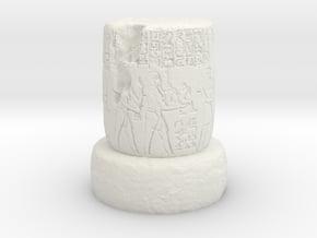 28mm/32mm Egyptian Column ruin in White Natural Versatile Plastic