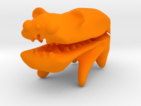 Improved Bear That is Eating Your Finger in Orange Processed Versatile Plastic
