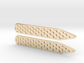 Honeycomb Inverse Collier Straighteners  in 14K Yellow Gold