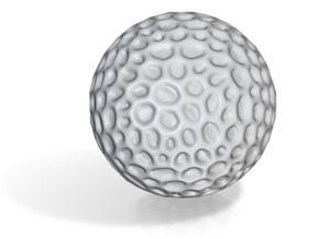 DRAW geo - sphere alien egg golf ball in White Natural Versatile Plastic: Small