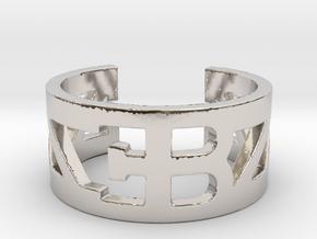 Bugatti Ring Size 10 in Platinum