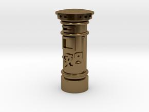 35mm/O Gauge - Post Box Polished Brass in Polished Bronze