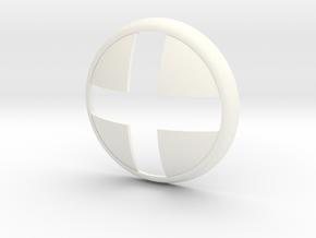 X-men Buckle part A in White Processed Versatile Plastic