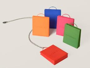 Stitched Bag Pendant in Red Processed Versatile Plastic