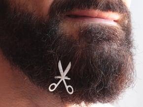 Scissors for beard - front wearing in White Natural Versatile Plastic