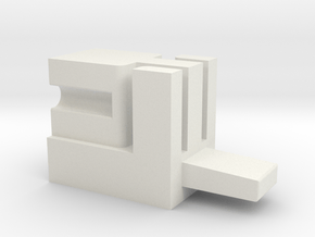 Solo Power charge connector V1.0 in White Natural Versatile Plastic