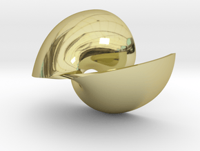 Golden Vortex Shell CW in 18k Gold Plated Brass
