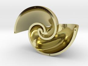 Golden Vortex Shell CCW in 18k Gold Plated Brass