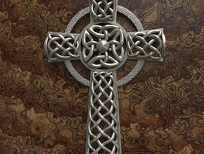 Celtic Cross in Polished Bronzed Silver Steel