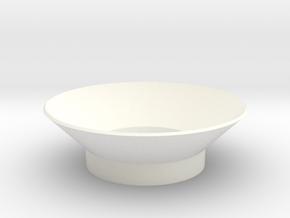 Funnel, 58mm in White Processed Versatile Plastic
