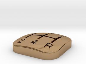 300ZX Manual Shifter pattern insert. 5 Speed. in Polished Brass