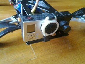 GoPro Hero 3 lens mount in White Natural Versatile Plastic