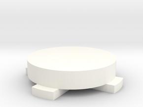 Push Tamper, 58mm in White Processed Versatile Plastic