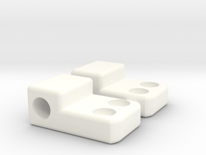 Krono's Shoulder Hinge in White Processed Versatile Plastic