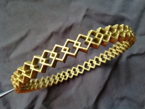 Square Bracelet in Polished Bronzed Silver Steel