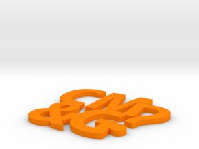 Coaster #1 - CM&G logo in Orange Processed Versatile Plastic