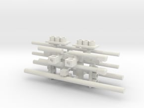 Traffic Light Signal Pole Unassembled Static (Set  in White Natural Versatile Plastic