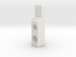 ESB FT Mid Block in White Natural Versatile Plastic