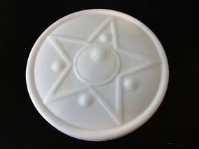 Crystal Star Figure Base 5 inch diameter in White Processed Versatile Plastic
