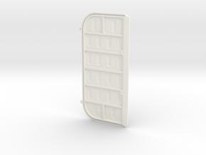 Double Door 1 Left in White Processed Versatile Plastic