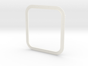 Frame Double 1 in White Processed Versatile Plastic