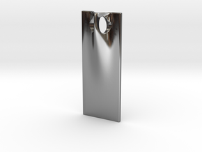 RAY 3.5cm tall in Fine Detail Polished Silver