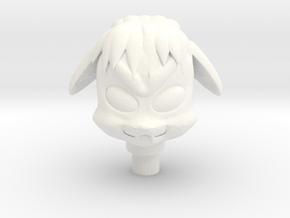Glyos Lobran Head in White Processed Versatile Plastic