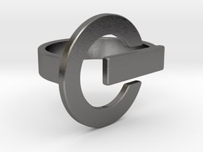 Power Button Ring - 20 mm in Polished Nickel Steel