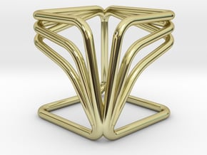 YOUCUBE R Pendant in 18k Gold Plated Brass