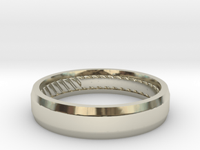 Designer 5mm Bezeled  in 14k White Gold