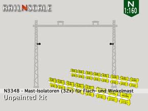 32x Isolatoren für Masten (N 1:160) in Smooth Fine Detail Plastic