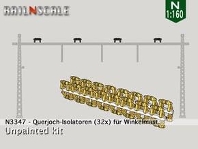32x Isolatoren für Querjoche (N 1:160) in Smooth Fine Detail Plastic
