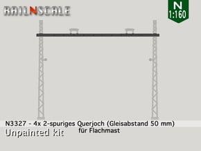 4x Querjoch (Oberleitung Epoche I - N 1:160) in Smooth Fine Detail Plastic