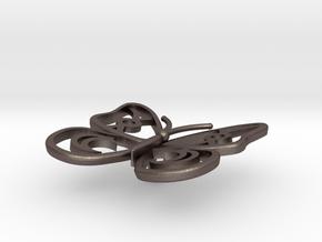Cute Butterfly in Polished Bronzed Silver Steel